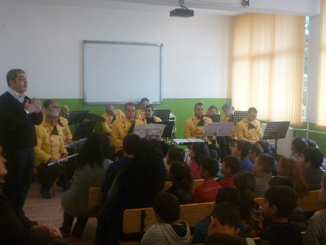 Образователен концерт на Духовия оркестър в ОУ